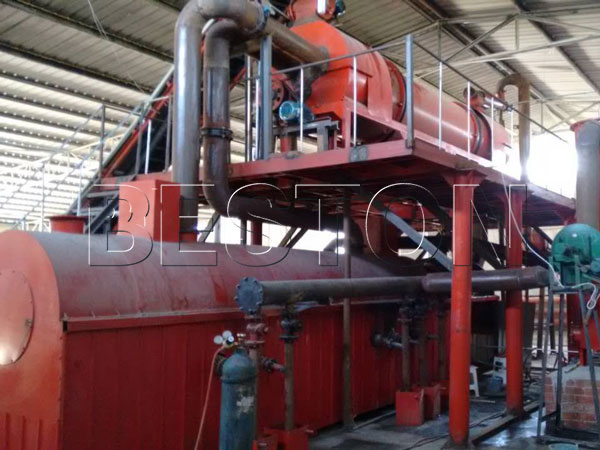 carbonization furnace for making charcoal