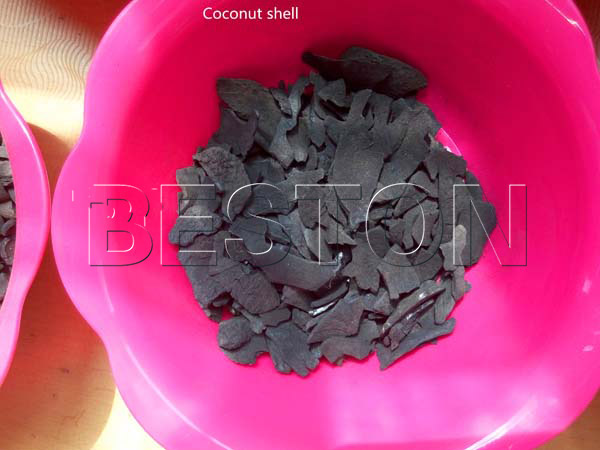 charcoal from coconut shell carbonization furnace