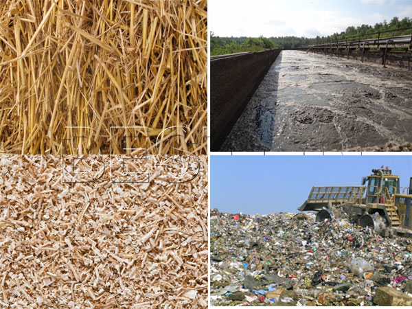 raw materials for biomass carbonization plant