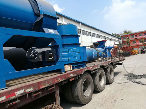 sawdust to charcoal machine shipping