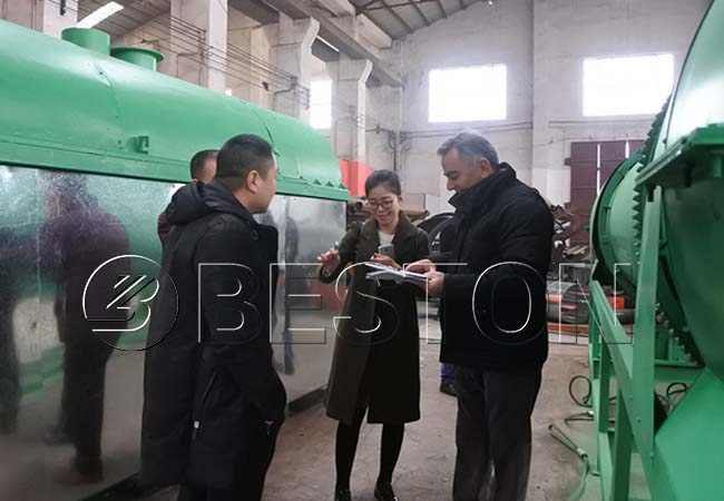 Customer in Beston Carbonization Machinery