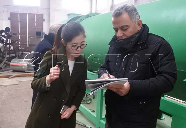 Turkish Customer Visit Beston Factory
