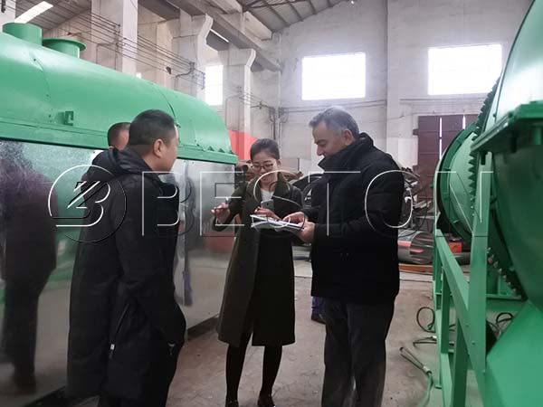 Turkey Customers Visited Beston Beston Machinery for Biochar Production Equipment