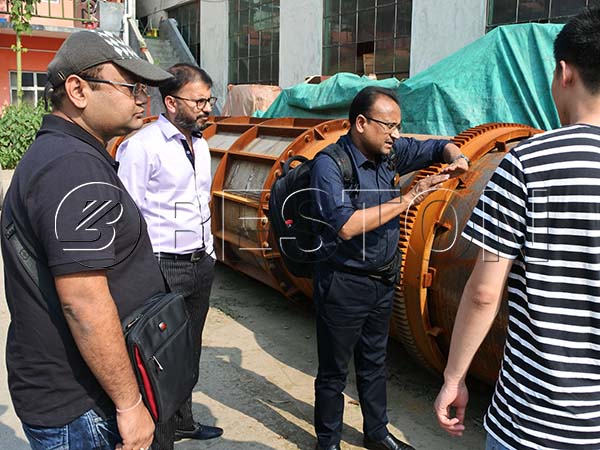 Indian Customers Visited Beston Carbonization Plant