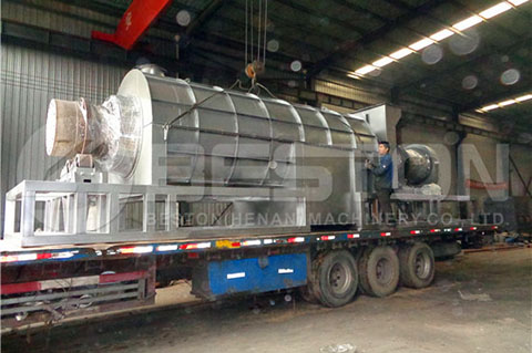 Palm Shell Charcoal Making Machine to Ghana